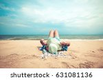 leisure in summer   young women ... | Shutterstock . vector #631081136