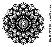 mandalas for coloring book.... | Shutterstock .eps vector #631083782