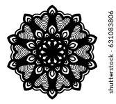 mandalas for coloring book.... | Shutterstock .eps vector #631083806