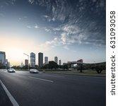 asphalt pavement urban road at... | Shutterstock . vector #631093058