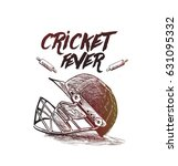 creative helmet for cricket... | Shutterstock .eps vector #631095332