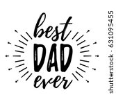 happy father's day banner and...   Shutterstock .eps vector #631095455