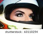 close up portrait of beautiful... | Shutterstock . vector #63110254