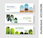 set of white banners with a... | Shutterstock .eps vector #631106186