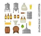 cartoon beer brewing color...   Shutterstock .eps vector #631109906