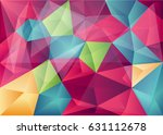 abstract colorful polygon... | Shutterstock .eps vector #631112678