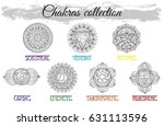 collection with hand drawn... | Shutterstock .eps vector #631113596