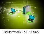 3d illustration of wireless... | Shutterstock . vector #631115822