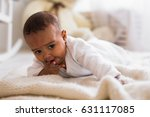 portrait of a mixed race baby... | Shutterstock . vector #631117085