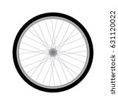 vector bicycle wheel | Shutterstock .eps vector #631120022