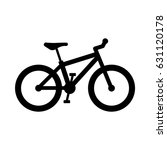 vector bicycle icon. mountain... | Shutterstock .eps vector #631120178