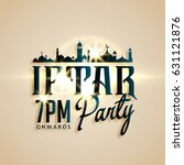 iftar party invitation card... | Shutterstock .eps vector #631121876