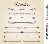 dividers set vintage collection ... | Shutterstock .eps vector #631123682
