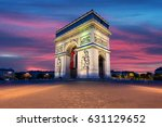 arc de triomphe and champs... | Shutterstock . vector #631129652