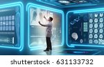 man doctor in futuristic... | Shutterstock . vector #631133732
