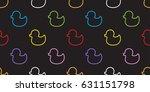 duck rubber duck seamless... | Shutterstock .eps vector #631151798
