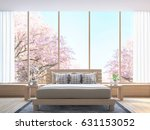 modern bedroom decorate room... | Shutterstock . vector #631153052