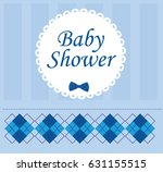 baby shower card design vector... | Shutterstock .eps vector #631155515