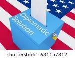 "3d illustration of ""diplomatic... | Shutterstock . vector #631157312"