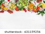 healthy food concept. variety... | Shutterstock . vector #631159256