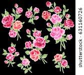 rose illustration object | Shutterstock . vector #631160726