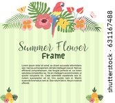 green beautiful tropical summer ...   Shutterstock .eps vector #631167488