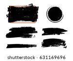 vector black paint  ink brush... | Shutterstock .eps vector #631169696