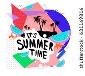 summer time vector banner... | Shutterstock .eps vector #631169816