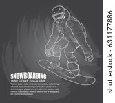 illustration of snowboarder on... | Shutterstock .eps vector #631177886