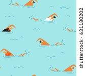 people swimming in the ocean... | Shutterstock .eps vector #631180202