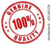 100 genuine quality rubber...   Shutterstock .eps vector #631181126