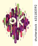abstract style poster  with... | Shutterstock .eps vector #631183592