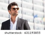 sexy gorgeous stylish man.... | Shutterstock . vector #631193855