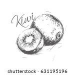 kiwi made in the style of a... | Shutterstock .eps vector #631195196