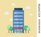 company building in flat style. ... | Shutterstock .eps vector #631196936