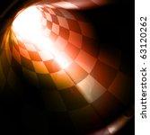 checkered tunnel  eps10 | Shutterstock .eps vector #63120262