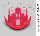 islamic beautiful design... | Shutterstock .eps vector #631204622