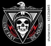 skull t shirt graphic design | Shutterstock .eps vector #631206845