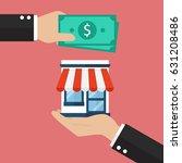 businessman use money buy... | Shutterstock .eps vector #631208486