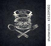 restaurant menu design. vector... | Shutterstock .eps vector #631209302