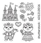 vector  baby coloring page ... | Shutterstock .eps vector #631213016