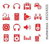 stereo icons set. set of 16... | Shutterstock .eps vector #631214222