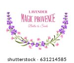 label with lavender. bunch of... | Shutterstock .eps vector #631214585