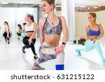 pretty fit young sportswomen... | Shutterstock . vector #631215122