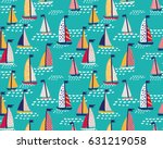 seamless vector pattern with ... | Shutterstock .eps vector #631219058