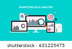 market analysis  web data... | Shutterstock .eps vector #631225475