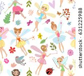 seamless pattern with cartoon... | Shutterstock .eps vector #631225988