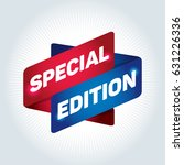 special edition arrow tag sign.  | Shutterstock .eps vector #631226336