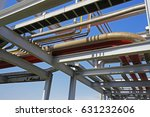 oil pipes and valves | Shutterstock . vector #631232606