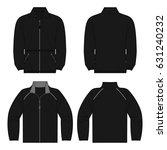 black autumn  spring fleece... | Shutterstock .eps vector #631240232